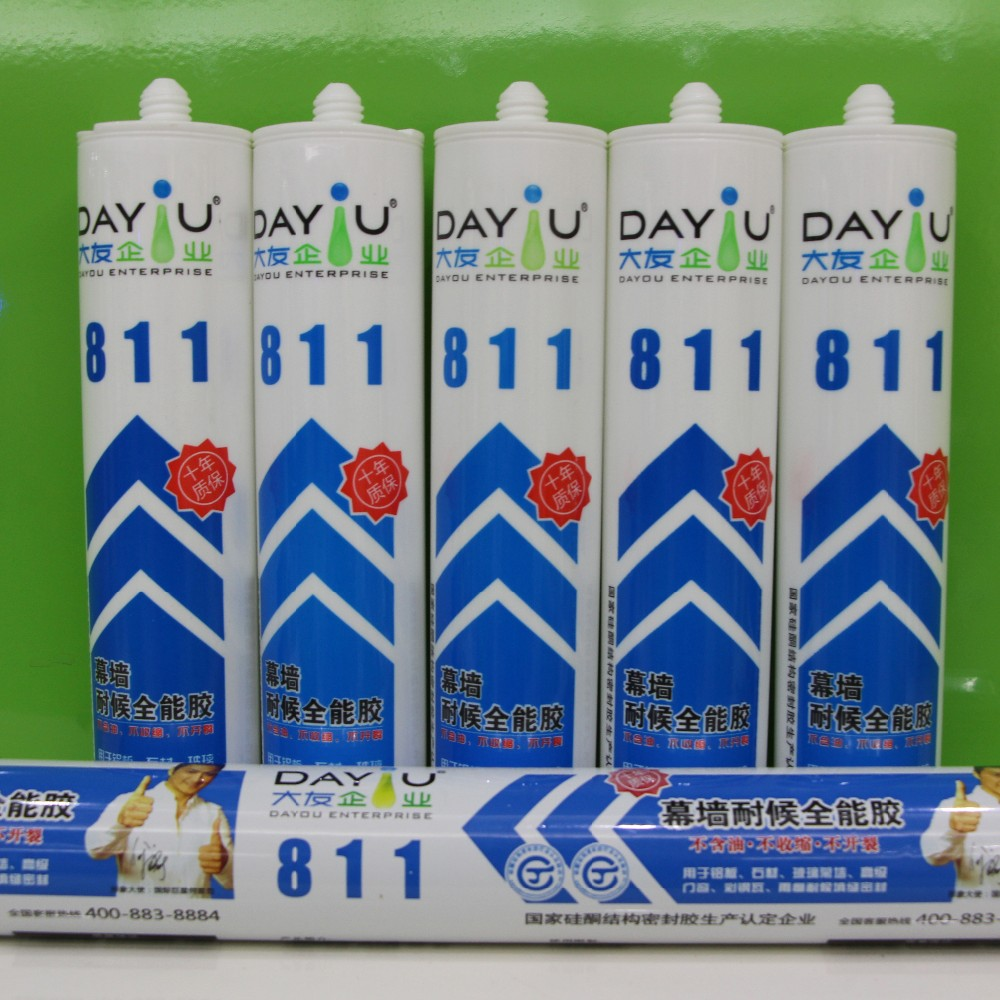 DY811 high quality netural rtv structural silicone sealant for double glazing