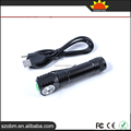 New Style B-D5 Auminum Alloy USB Rechargeable XPG-R5 LED 3 Modes LED Flashlight Torch With Clip