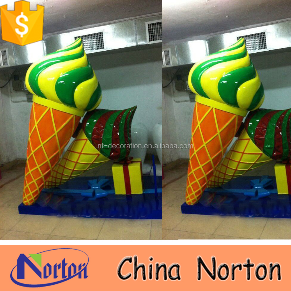 big ice cream decoration fiberglass custom made sculpture NTRS507S