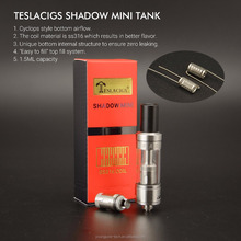 Tesla Amazing Vape Tank Not Atomizer!!! Newest Stainless Steel & Glass Tank Teslacigs Shadow Mini Tank