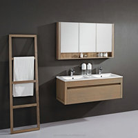 Modern Vanity Furniture Hanging Bathroom Towel Rack With Mirror Cabinet