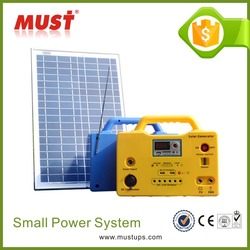 MUST 20W solar lighting system/Portable Solar Panel/Small Solar lighting kits 10W 20W