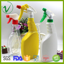 HDPE wholesale flat trigger spray liquid detergent plastic bottles
