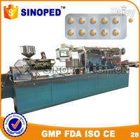 electric type automatic GMP standard Flat Plate A Alu Alu pvc Blister Packing Machine