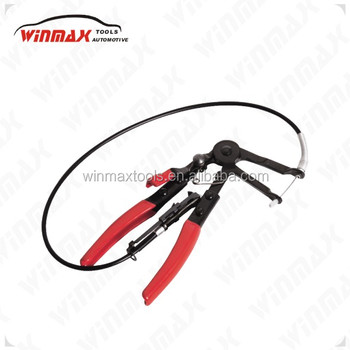 "Long 24"" Flexible Extended Cable Wire Shaft Hose Clamp Plier Automotive Tool Fuel Oil Water Fuel WT04A4020"