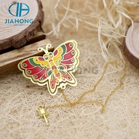 Jiahong colorful butterfly shape stainless steel bookmark metal