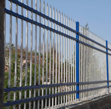 High Quality galvanised steel picket palisade Fence and sliding gate( 16 years professional factory)