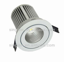 showroom display lighting sharp COB gimbal lamp head LED ceiling lamp 15W round COB ceiling recessed lighting trim