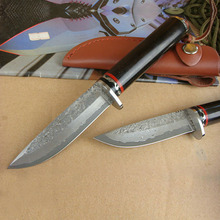 Damascus Handmade fixed blade hunting knife
