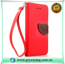 Hot new products for 2016 wallet leather flip back cover for xiaomi redmi note 3 pu leather stand case with card slot