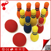 New products 2017 children indoor sporting toy NBR rubber foam bowling set kids skittles bowling