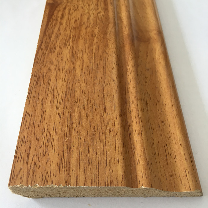 China Factory MDF/HDF Skirting Board For Laminated Floor Accessories