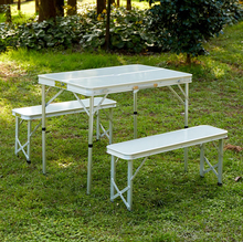 outsunny folding camping picnic table and bench