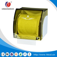 Transparent yellow small toilet tissue dispenser CD-8747 D