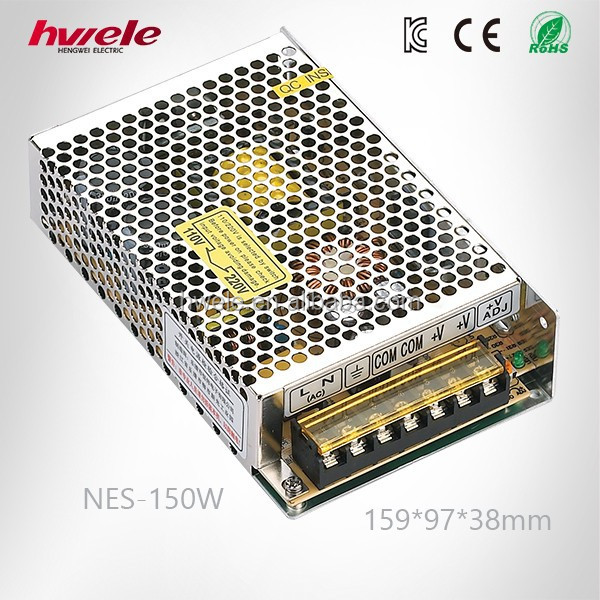 NES-150W efficient ac to dc LED converter voltage transformer 24V with CE ROHS CCC KC TUV certification