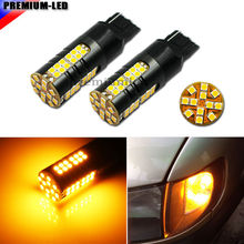 No Hyper Flash 21W High Power Amber Yellow 7440 W21W T20 LED Bulbs For Car Turn Signal Lights
