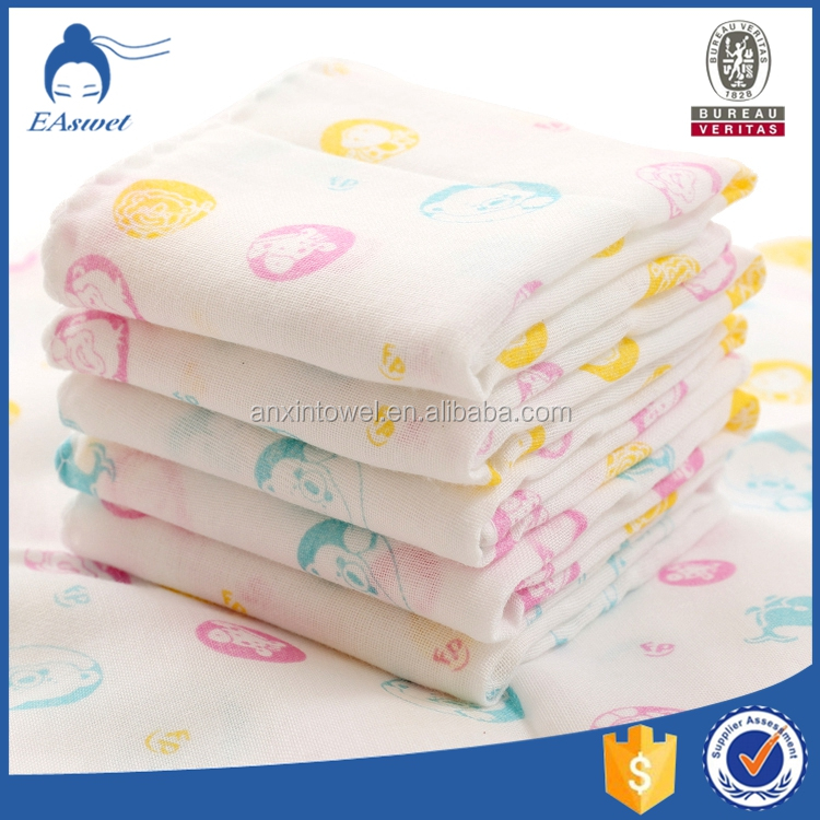 Lovely bamboo muslin cheap face towels baby wash cloth face muslin cloth