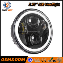 Morsun motorcycle front 5-3/4'' Led headlight 4000 LM high /low beam for 5.75 inch led motorcycle Harley headlight