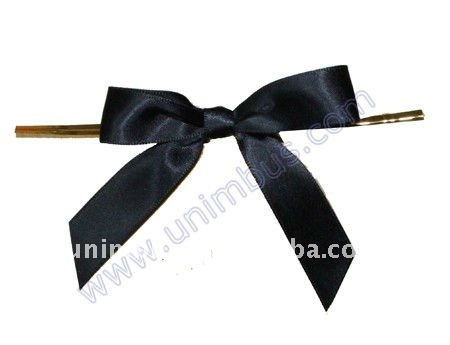 black bow on twistie,cello bag accessories