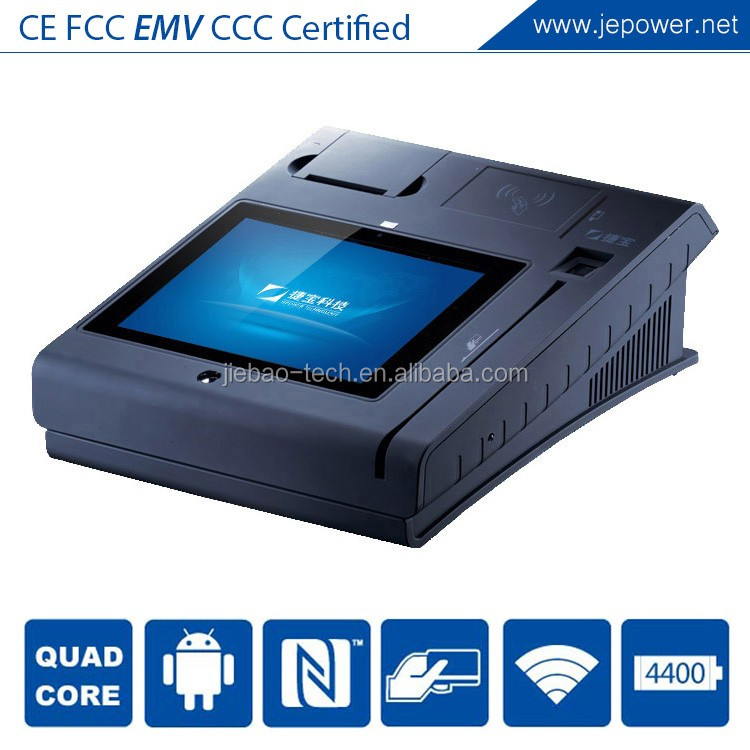 10 Inch Touch Countertop Android System Square Pos Qual Core Touch Fast Speed Pos Terminal