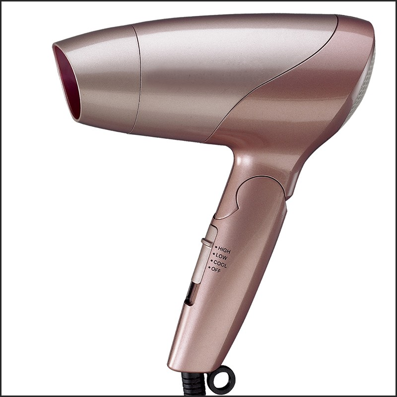 1200w DC Motor Plastic Hood Hair Dryer with Foldable Hand