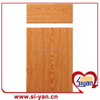 mdf imitative solid wood kitchen cabinet doors and draws