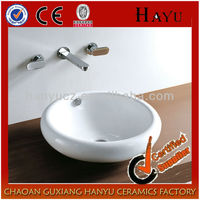HY-495 bathroom sink ceramic hand art lavabo