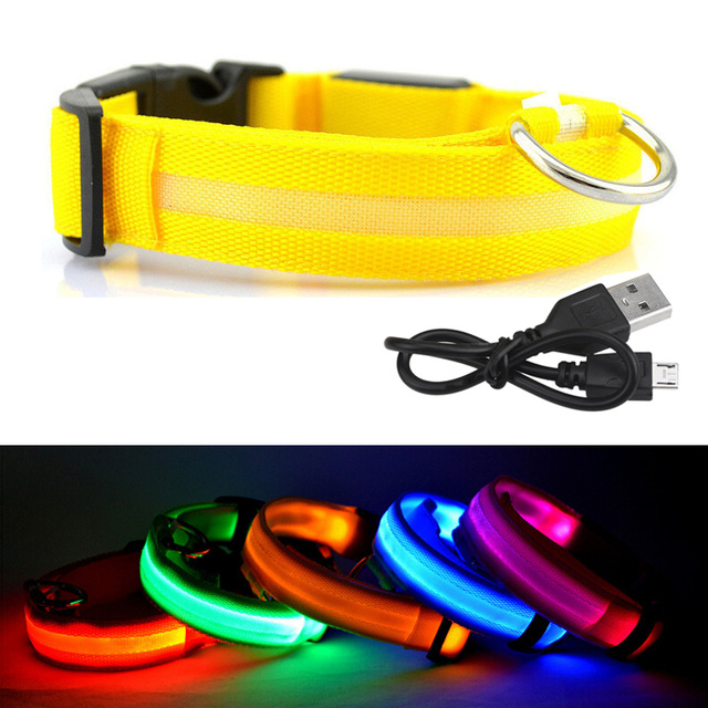 2017 new design wholesale led pet product led pet dog collar for promotion use of the dog in the night