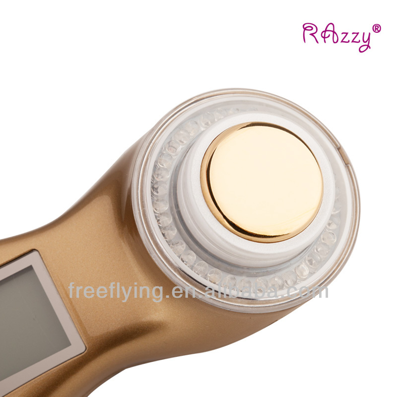 Newest Portable Home Use Ultrasonic skin Rejuvenation Ionic Photon 3MHz facial roller massager