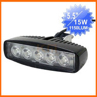 "5.5"" 15W led mini bar Auto light of LED working light ATV UTV moto bike"