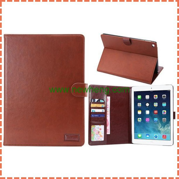 Crazy Horse Card Wallet Stand Leather Case For iPad Air 2/ipad 6