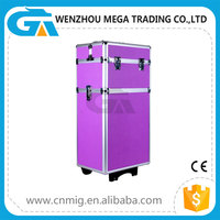 Fashionable Aluminum Trolley Hairdressing Beauty Cases