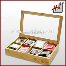 Hot sale 2015 Newest Bamboo Tea Bag Box HCGB8-13