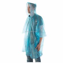 Plastic Waterproof disposable adult rain poncho for hiking