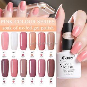 nail polish suppliers Long Lasting Nail pink color UV gel Polish Soak Off polish