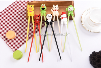 chopstick kids chopstick with silicone holder hot sell silicone kids chopstick