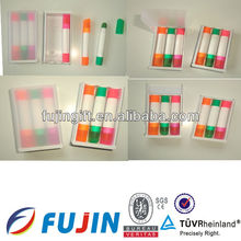 High quality highlighter gel set 3 in 1 crayons in box for office staionary retractable highlighter pen