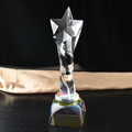 new star shape crystal trophies and Glass Trophy
