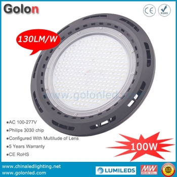 High power LED spot light 100W IP65 wateproof 130Lm/W 60D 90D 120D 100-277V
