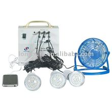 Multifunction solar home system in shenzhen with lighting & charging function