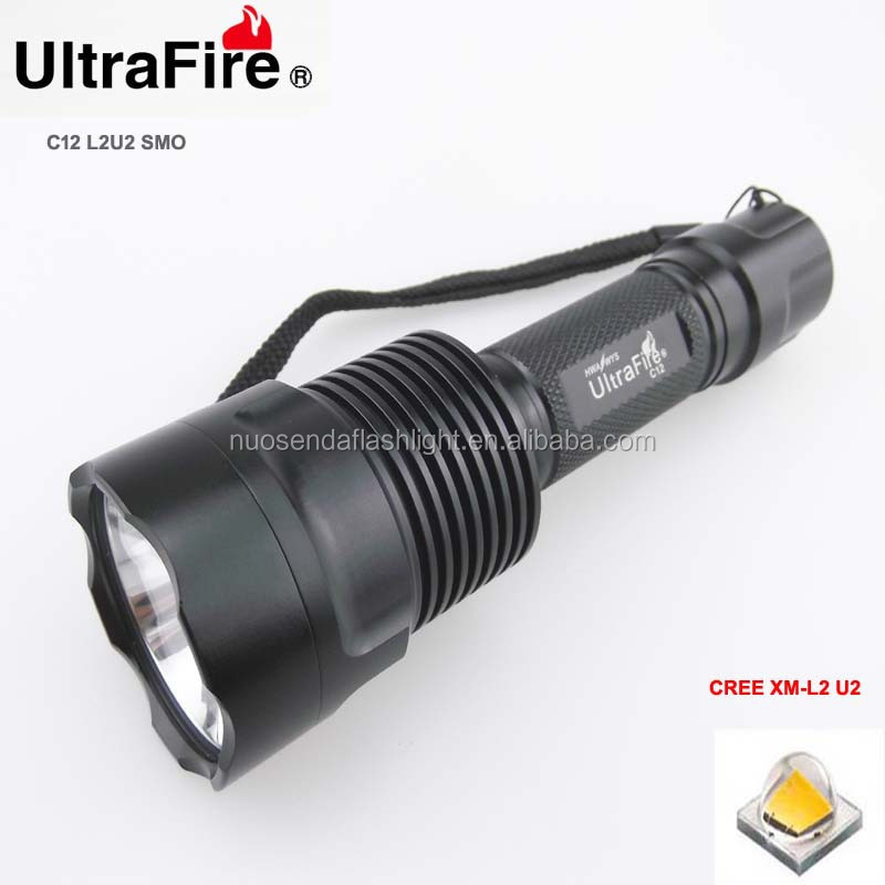 UltraFire C12 1xCREE XM-L2 <strong>U2</strong> 1600lm SMO LED <strong>Flashlight</strong> (1 x 18650)