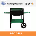 BBQ Grill with Wooden Foldable Side Table Charcoal Barbecue Grill
