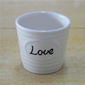 LOVE design small white ceramic flower pots for flower decoration ceramic pot for artificial flower decoration plant pot