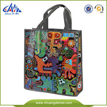 Eco Friendly laminated and fashion custom printed PP Non Woven shopping and packing Fabric Carrier bag