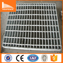 steel gratings standard weight for walkway/6mm cross bar stair tread with hot dipped galvanized surface