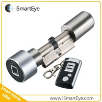Fingerprint Access Control Digital Lock Cylinder Remote control electric door lock electronic lock cylinder