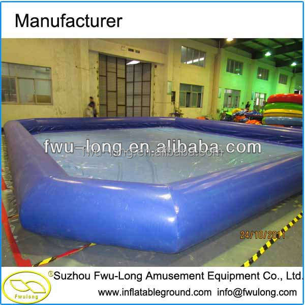 Best Pool! 100%0.9mm PVC CE inflatable square swimming pool,adult size inflatable pool, palm tree inflatable pool