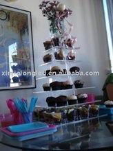 durable and crystal like acrylic cupcake stand cupcake display