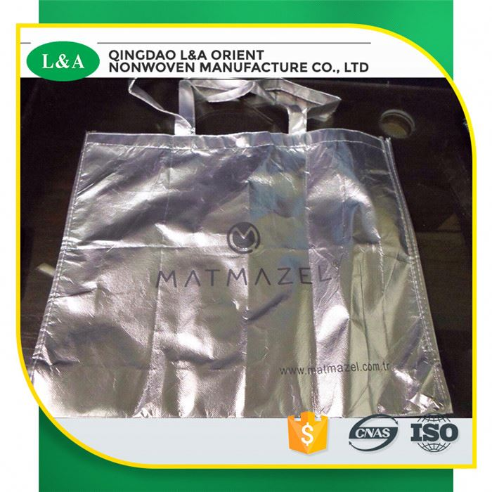 Durable Strong Foldable PP Non Woven Shopping Bag With Double Layers Of Material