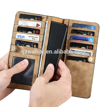 Universal 6 inch Genuine Leather Wallet Phone Case Mobile Flip Cover For iphone 8 Leather Case